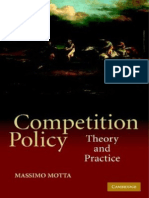 Competition Policy--Theory and Practice