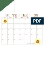 PRINTABLE September 2009 Calendar
