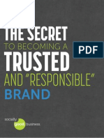 "The Secret to Becoming a Trusted and ""Responsible"" Brand"