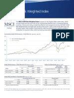 MSCI ACWI Risk Weighted Index Factsheet