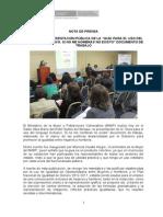 Nota de Prensa DASI.