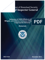 Department of Homeland Security Inspector General Report