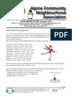 ACNA January 2014 Newsletter