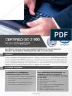 ISO 31000 Risk Manager Four Page Brochure