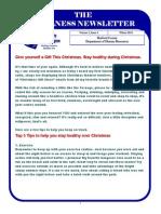 Wellness Newsletter Winter 2013