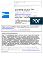 Rainwater harvesting and poverty
