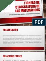 FICHERO DE LECTOESCRITURA DE PROBLEMAS MATEMÁTICOS