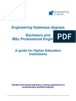 Guide to Bachelors and MSc in Professional Engineering