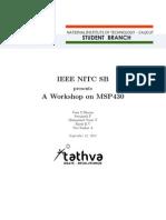 MSP 430 programming