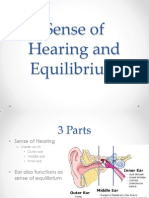 Sense of Hearing and Equilibrium