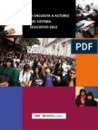 Informe IX Encuesta CIDE 2012