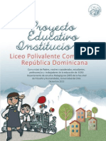 Proyecto Educativo Polivalente Comunitario Republica Dominicana FINAL