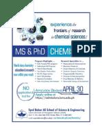 Chemistry Graduate Brochure - 2013