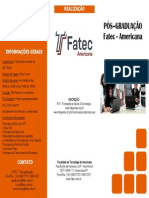 Folder Pos Graduação FATEC