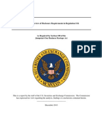 Report on Review of Disclosure Requirements in Regulation S-K