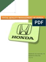 Project Tqm Honda