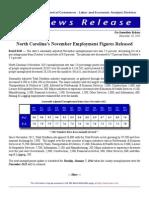 NC November 2013 Employment Report