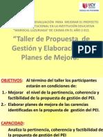 TALLER DE PROPUESTA DE GESTIÓN - PRESENTACIÓN 1