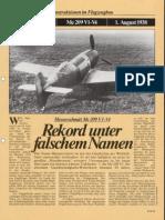 FlugRevue Messerschmitt Me 209 V1 V4