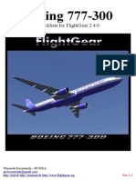 777 300 Flightgear Checklists