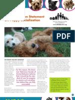 AVSAB Statement on Puppy Socialization