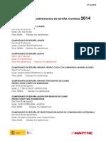 Campeonatos de Espana Juveniles 2014