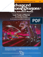 AD&D 1.0 I5 Level 7-9 Adventure - Lost Tomb of Martek