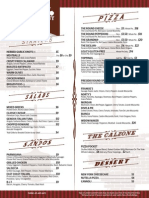 Presidio Pizza Company Menu