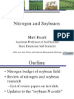Nitrogen and Soybeans Ruark
