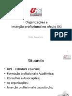 PALESTRA 1 - Organizações e Inserção profissional
