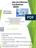 Minicurso 7- Homeopatia - Gleyce Moreno - Cópia
