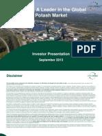Investor Presentation Uralkali Sep 2013