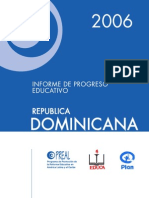 Progreso Educativo en La Republica Dominicana