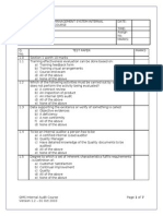 56438309 QMS Internal Auditor Exam Paper