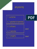Jet Grouting - La Tecnica e i Parametri