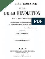 Crétineau-Joly Jacques - L'église romaine en face de la révolution - Tome 1.pdf