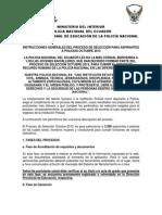 Instrucciones Generales de Proceso de Seleccion