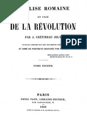 Révolution La Joly L'église Crétineau En Face Jacques De Romaine XO8P0NnZwk