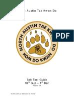 NATKD Belt Test Guide