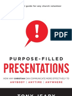 Purpose-Filled Presentations by Tony Jeary preview