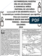HOJITA EVANGELIO DOMINGO IV ADVIENTO A BN