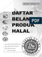 Produk Halal MUI November - Desember 2013