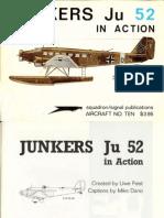 Luftwaffe Transport Junkers Ju 52 In Action