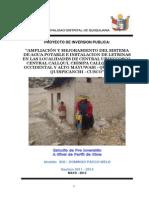 Ampliacion Mejoramiento SAP Letrinas 5 Caserios Quiquijana, Quiquijana - Cuzco