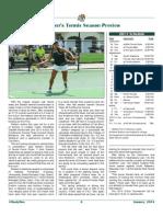 2014 Stetson Tennis Preview in #HootyHoo Magazine