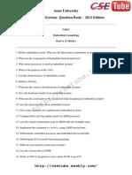 Embedded Systecse & it QB