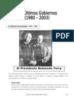 IV BIM - 5to. Año - Guía 7 - Los últimos gobiernos 1980-2003