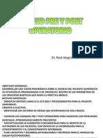 Manejo Pre y Post Operatorio Clases
