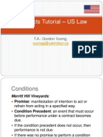 Contracts Tutorial 9-10 US LAW