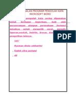 Pengenalan Program Pengolah Kata Microsoft Word
